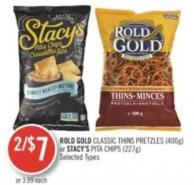 Rold Gold Classic Thins Pretzles (400g) or Stacy's Pita Chips (227g