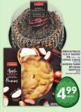 Irresistibles Fully Baked Pie Or Coffee Cakes Or Oakrun Farm Belgian Waffles