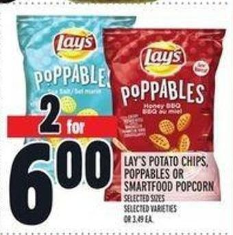 Lay's Potato Chips - Poppables or Smartfood Popcorn
