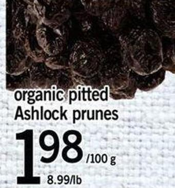 Organic Pitted Ashlock Prunes