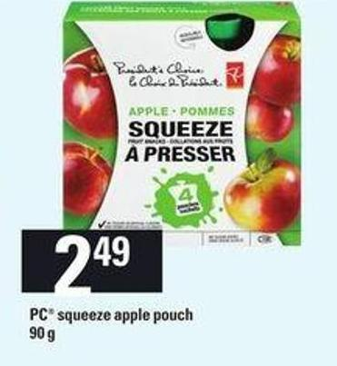 PC Squeeze Apple Pouch