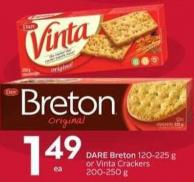 Dare Breton 120-225 g or Vinta Crackers 200-250 g