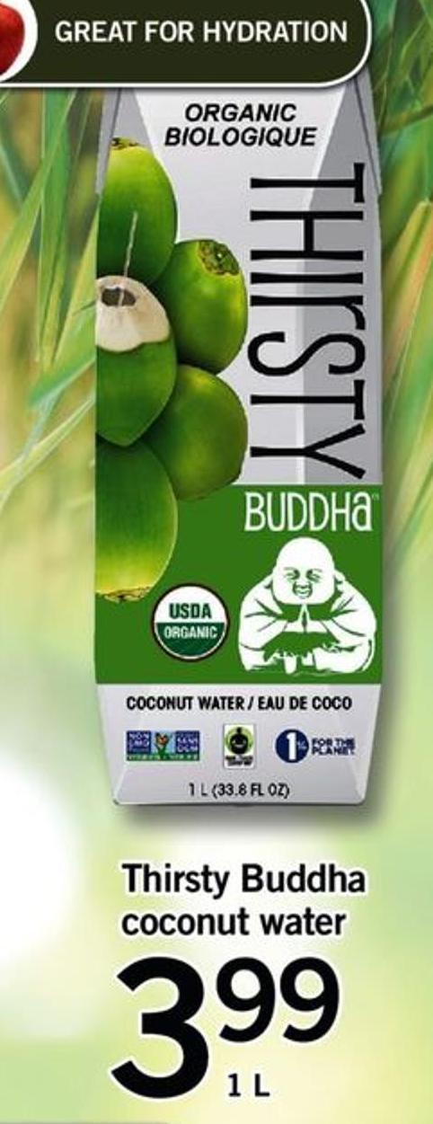 Thirsty Buddha Coconut Water - 1 L