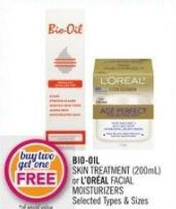 Bio-oil Skin Treatment (200ml) or L'oréal Facial Moisturizers