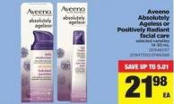 Aveeno Absolutely Ageless Or Positively Radiant Facial Care - 14-50 mL