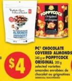 PC Chocolate Covered Almonds - 340 g or Poppycock Original - 300 g