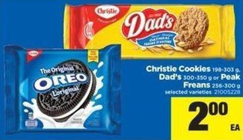 Christie Cookies - 198-303 G - Dad's - 300-350 G Or Peak Freans - 256-300 G