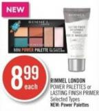 Rimmel London Power Palettes or Lasting Finish Primer