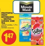 Fruitopia Fruit Beverages or Nestea Lemon Iced Tea - 1.75 L