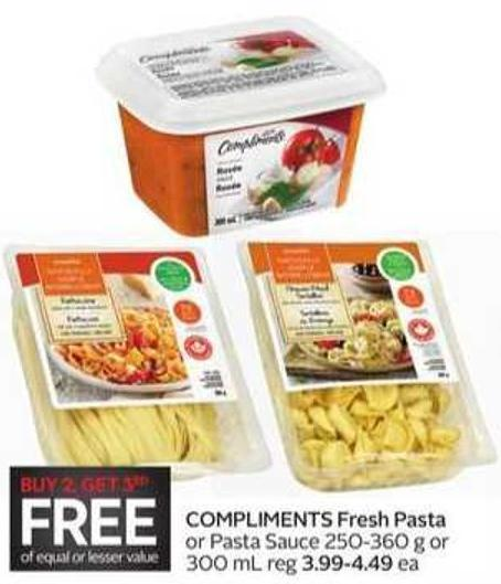 Compliments Fresh Pasta or Pasta Sauce 250-360 g or 300 mL