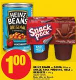 Heinz Beans or Pasta - 398 mL or Snack Pack Pudding - Gels or Desserts - 4 X 99 g