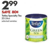 Tetley Specialty Tea 20-24ct