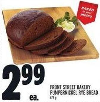 Front Street Bakery Pumpernickel Rye Bread