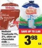 Neilson Truetaste 1% - 2% - Skim Or Chocolate Milk - 4 L