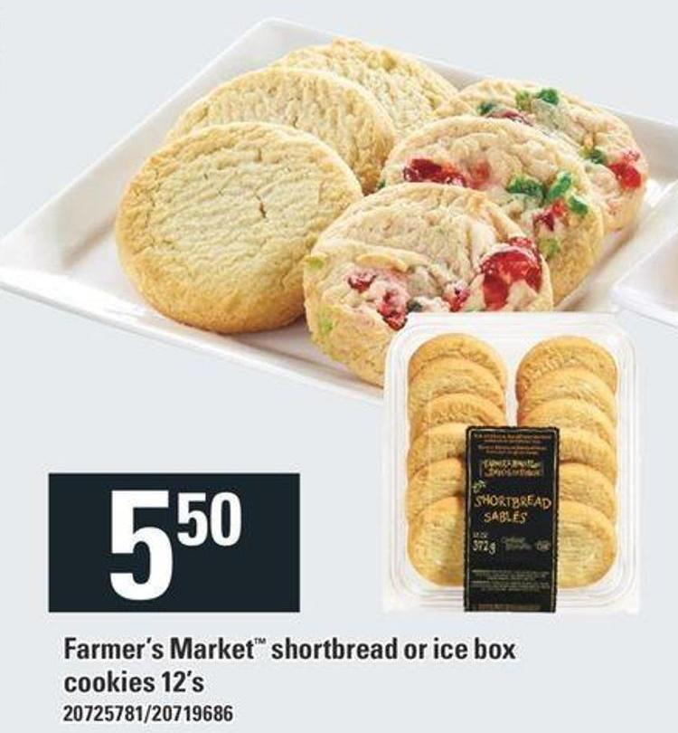 Farmer's Market Shortbread Or Ice Box Cookies 12's