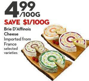 Brie D'affinois  Cheese Imported From  France