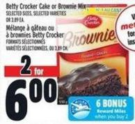 Betty Crocker Cake Or Brownie Mix