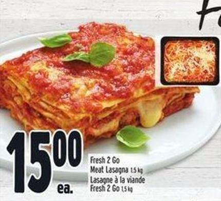 Fresh 2 Go Meat Lasagna