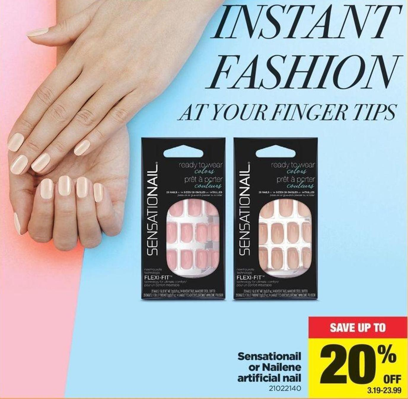 Sensationail Or Nailene Artificial Nail