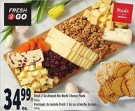 Fresh 2 Go Around The World Cheese Plank