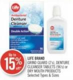 Life Brand Grind Guard (2's) - Denture Cleanser Tablets (96's) or Dry Mouth Products