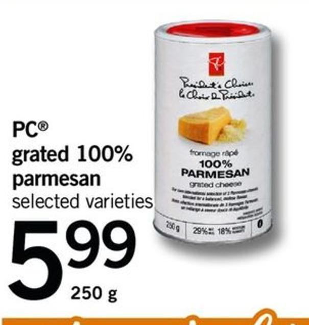 PC Grated 100% Parmesan - 250 G