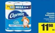 Charmin Bathroom Tissue - 12/24=48 Rolls