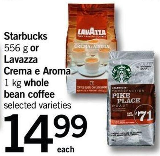 Starbucks - 556 G Or Lavazza Crema E Aroma - 1 Kg Whole Bean Coffee