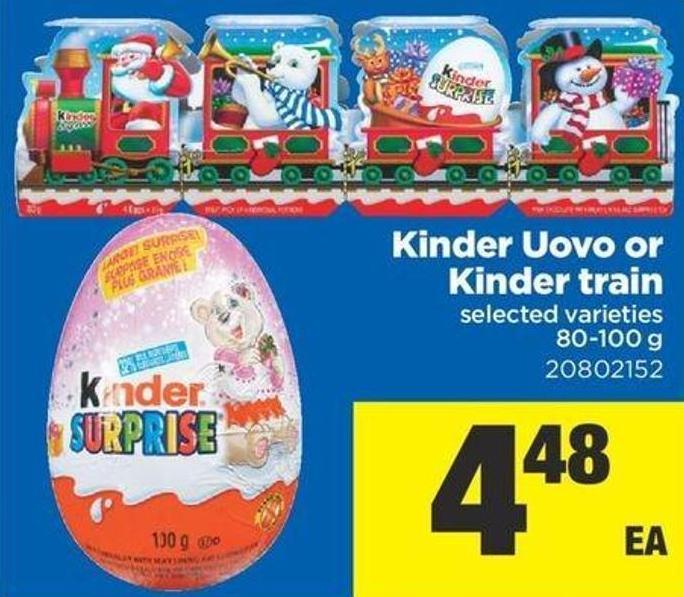 Kinder Uovo Or Kinder Train - 80-100 g