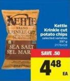 Kettle Krinkle Cut Potato Chips - 397 g