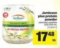 Jamieson Plus Protein Powder - 325/355 mL