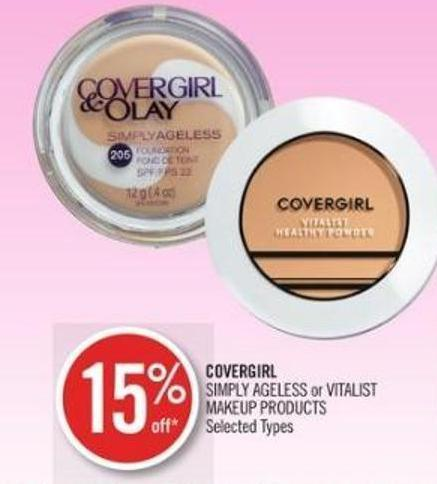 Covergirl Simply Ageless or Vitalist Makeup Products