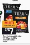 Terra Exotic Vegetable Chips 141-170 G Or Stix 226 G