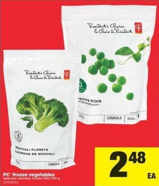 PC Frozen Vegetables - 500-750 G