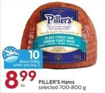 Piller's Hams Selected 700-800 g -10 Air Miles Bonus Miles