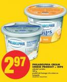 Philadelphia Cream Cheese Product or Dips - 340 g