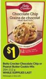 Betty Crocker Chocolate Chip or Peanut Butter Cookie Mix 204-212 g