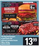 The Keg Beef Burgers Or Pork Back Ribs - 700 G-1.02 Kg