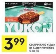Chapman's Yukon or Super Novelties 5-18 Pk