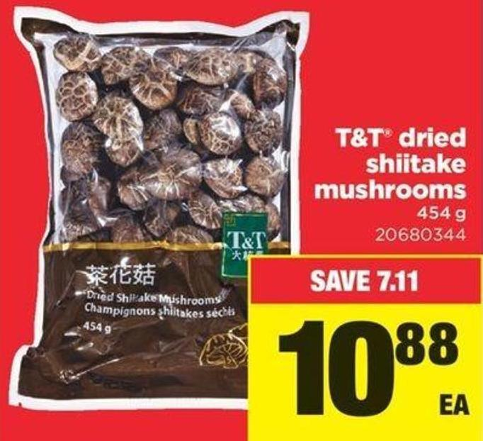 T&t Dried Shiitake Mushrooms - 454 g