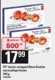 PC Bacon Wrapped Nova Scotian Sea Scallops - 340 g