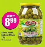 Salem Foods Nabulsi Olives 2 Kg