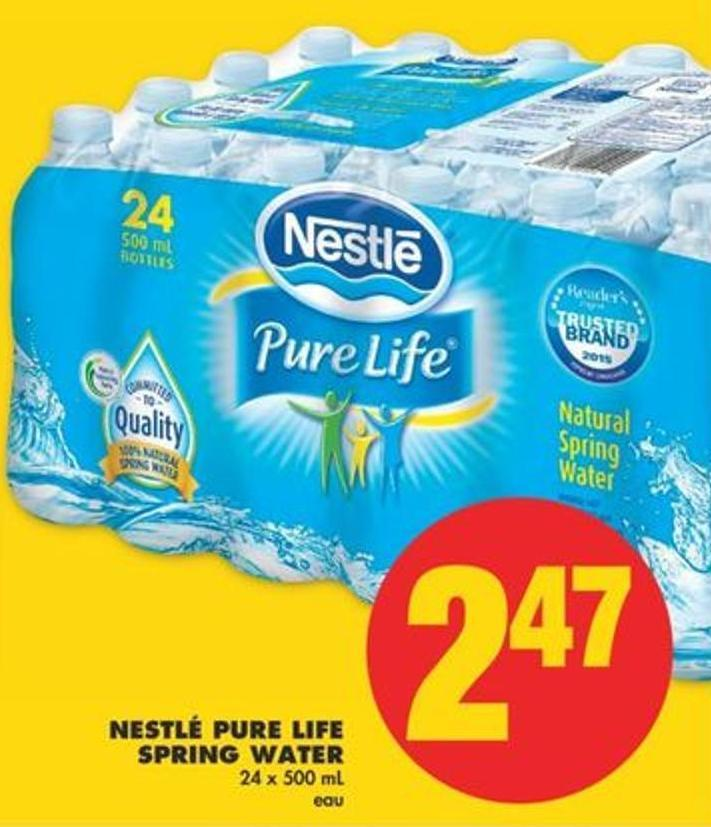Nestlé Pure Life Spring Water - 24 X 500 mL