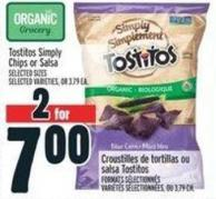 Tostitos Simply Chips Or Salsa