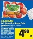 PC Organics Royal Gala Apples Or Bartlett Pears Or Granny Smith Apples - 3 Lb Bag