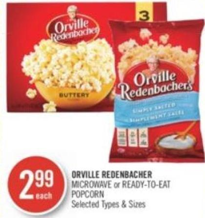 Orville Redenbacher Microwave or Ready-to-eat Popcorn