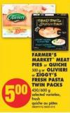 Farmer's Market Meat Pies or Quiche - 500 g or Olivieri or Ziggy's Fresh Pasta Twin Packs - 450/600 g