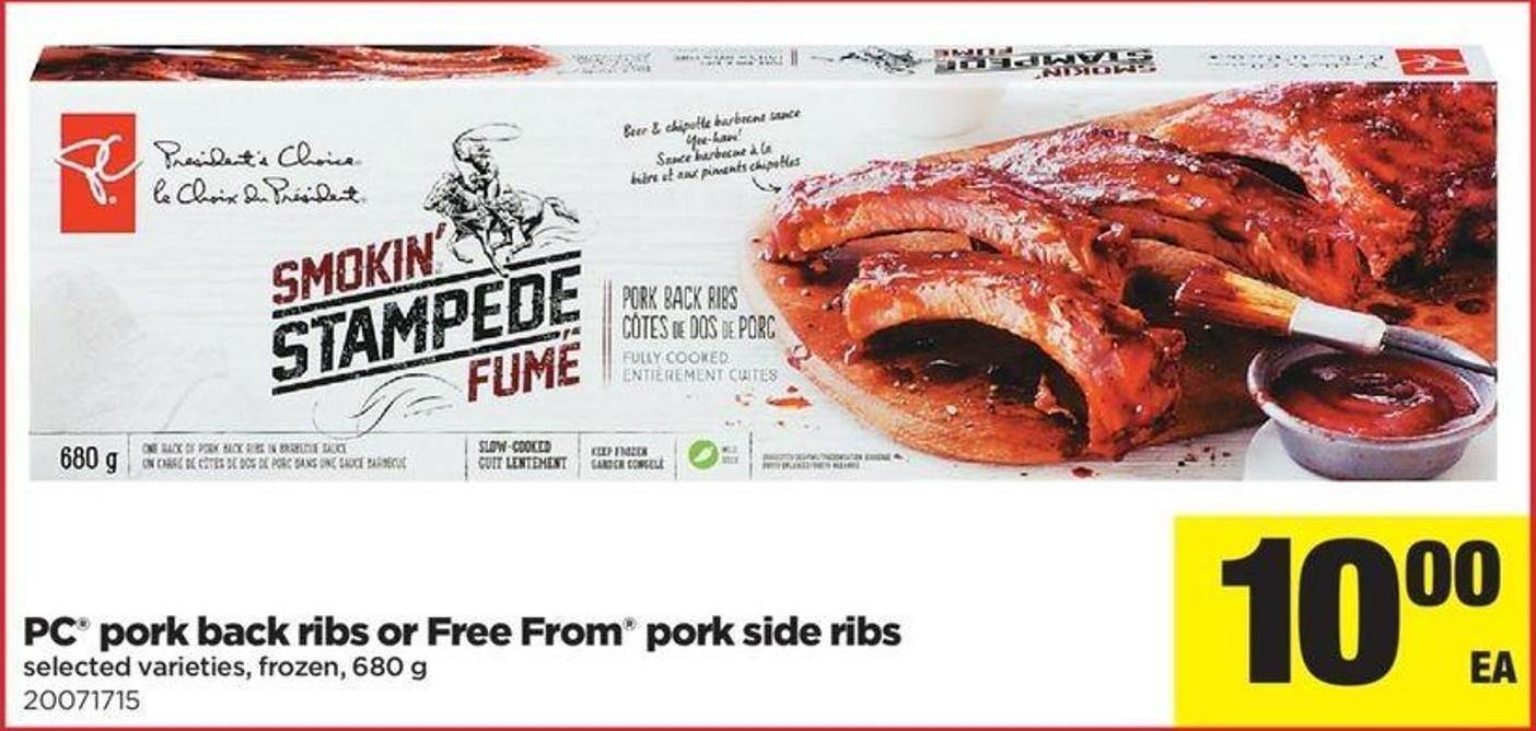 PC Pork Back Ribs Or Free From Pork Side Ribs - 680 G