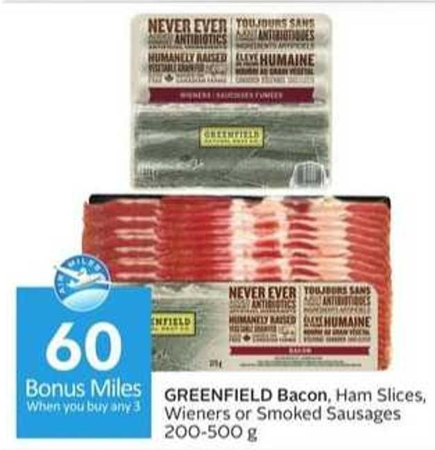 Greenfield Bacon - 60 Air Miles Bonus Miles