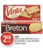 Dare Vinta (250g) - Breton (225g) or Gluten Free (135g) Crackers